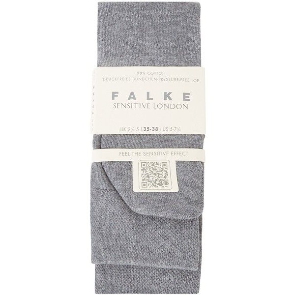 Falke Sensitive London Stretch Cotton Socks - Size 2 (195.945 IDR) ❤ liked on Polyvore featuring intimates, hosiery, socks, falke socks, falke hosiery, falke, grey socks and gray socks
