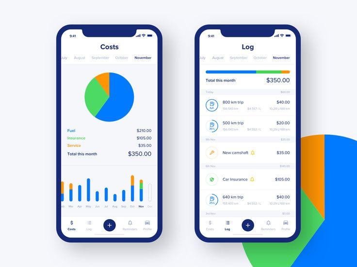 Fuel costs iOS app by ⚡️Matt Koziorowski⚡️ #mobile #app