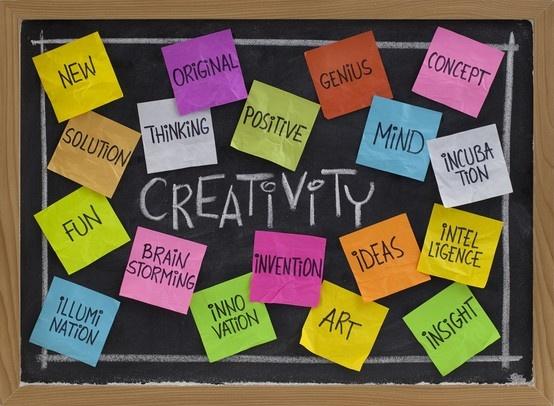 Creativity Word Cloud on Blackboard !