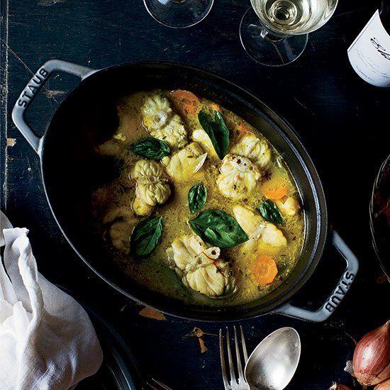 Monkfish Stew with Saffron Broth
