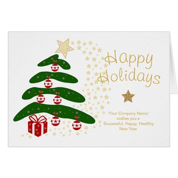 Custom Company Christmas Cards Modern Tree Holiday #cards #christmascard #holiday