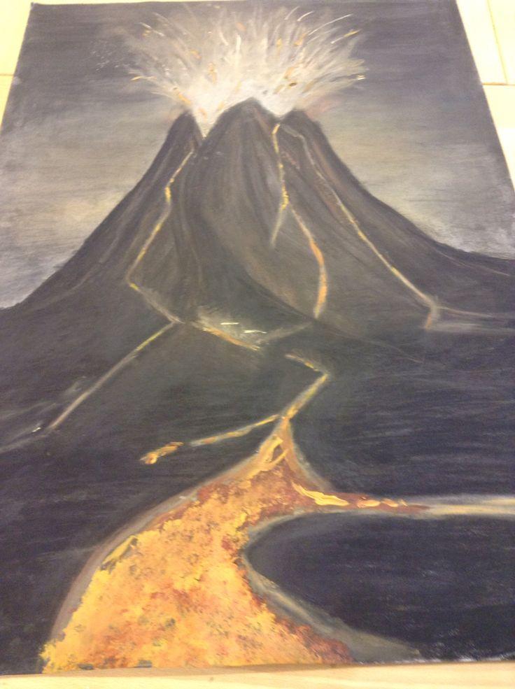 Charcoal volcano