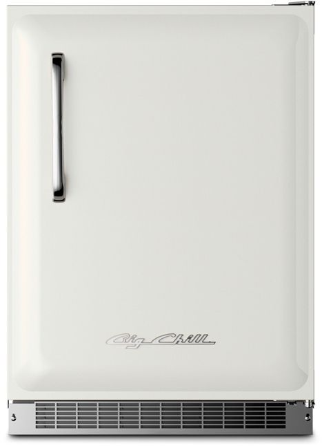 Big Chill's Undercounter Fridge is a stylish mini fridge with a stamped metal door, authentic chrome handle and steel kickplate, temperature management system, and is energy efficient. Choose from 8 standard and 200 custom colors.