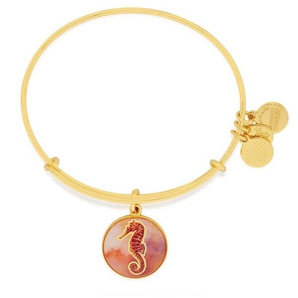 Women's Alex And Ani Charm Bracelet ($28) ❤ liked on Polyvore featuring jewelry, bracelets, rose gold, rose gold charms, charm bangles, sand jewelry, charmed circle jewelry and nautical charms
