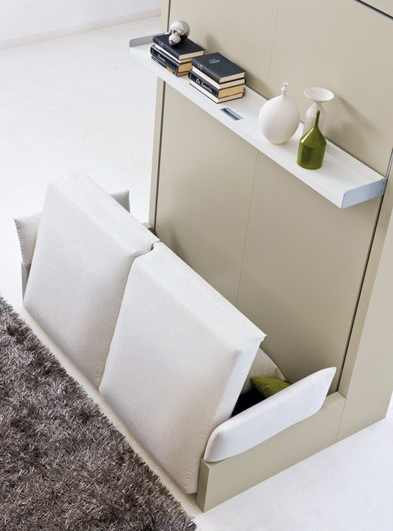 Storage wall with fold-away bed NUOVOLIOLÁ 10 by CLEI design Pierluigi Colombo