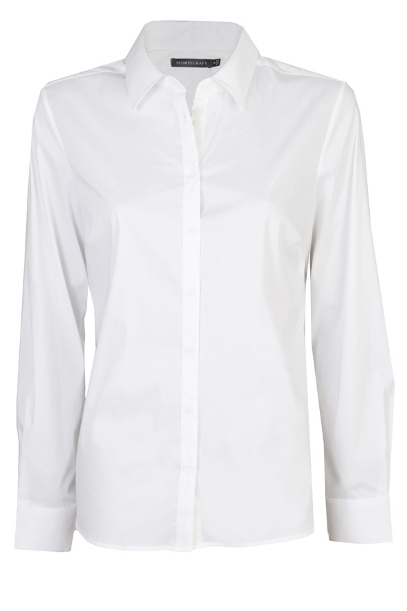 A crisp and classic white shirt.        Button up and tuck it in for a more formal look or unbutton and roll up the sleeves for a relaxed style.        The white shirt goes with everything - but make sure you choose the 'right white' for your skintone!