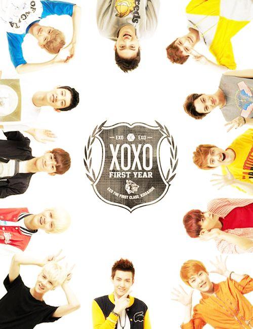 XOXO Xiumin Luhan Kris Suho Lay Baekhyun Chen Chanyeol Sehun Tao Kai