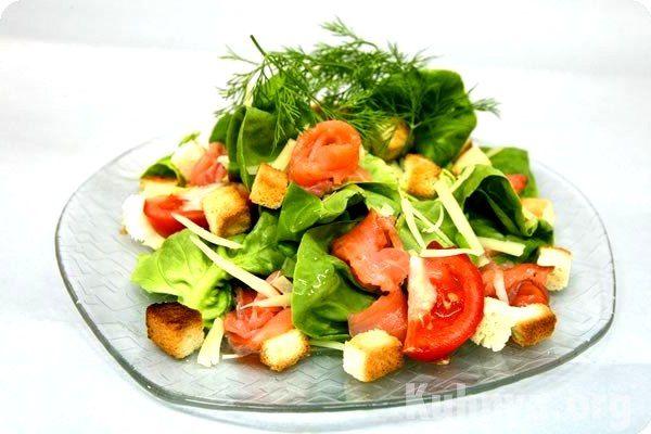 Салат из семги консервированной