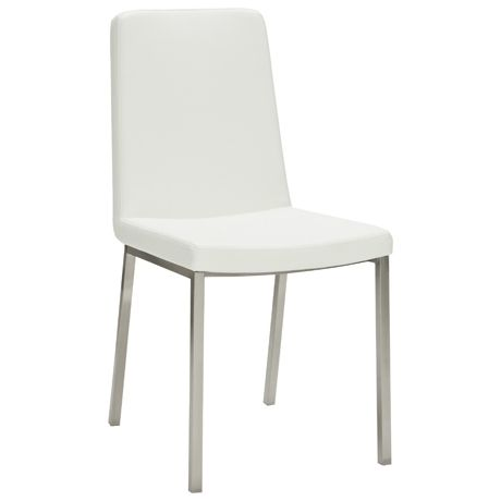 Signature S Dining Chair Synthetic Leather White