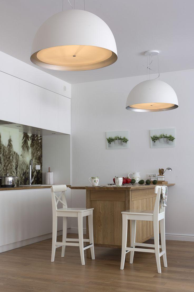 kuchnia w Zakopanem, dębowe meble, białe meble, styl zakopiański modern kitchen, white furniture, oak wood
