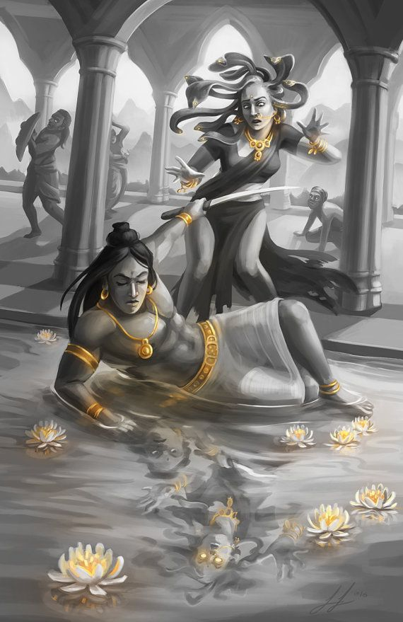 Hey, I found this really awesome Etsy listing at https://www.etsy.com/listing/494999095/11x17-print-perseus-and-medusa-hindu