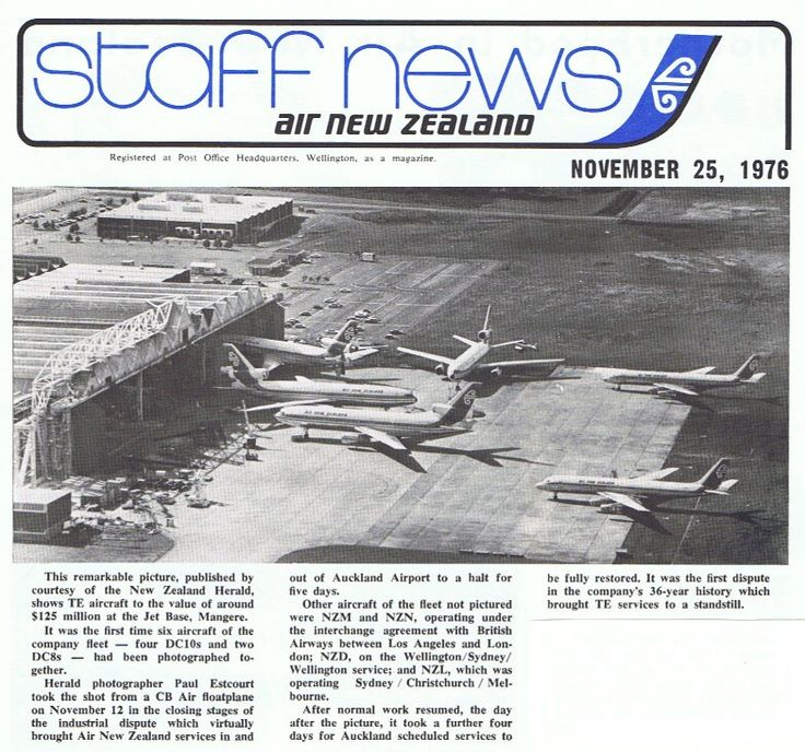Air New Zealand DC-10's & DC-8's Auckland Airport