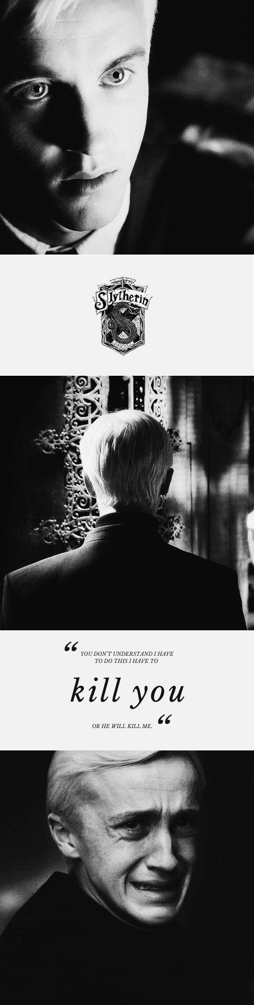 Draco Malfoy is definitely one of my favourite fictional character. He is so much more than just a villain.