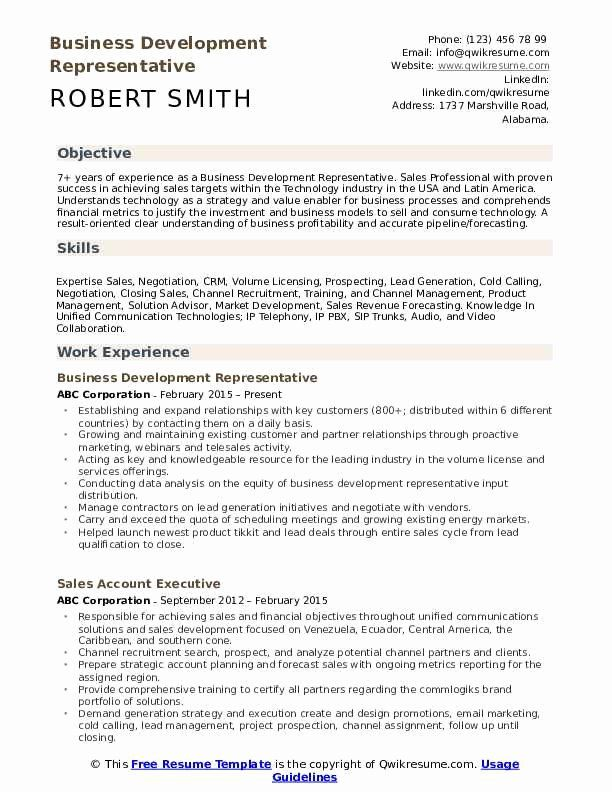 Pin On Business Development Resume Sample