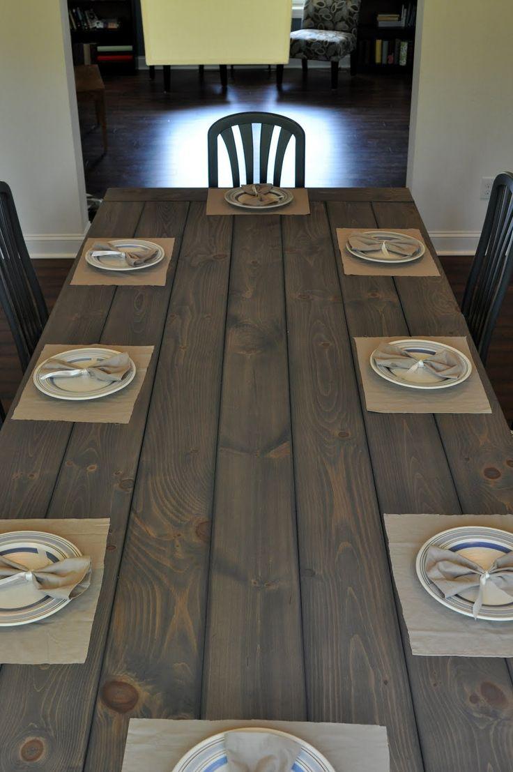 wide plank tableEast Coast, Diy Farmhouse, Diy Tutorial, Dining Room Tables, Farm Tables, Farmhouse Style, Farmhouse Tables, Farms Tables, Dining Tables