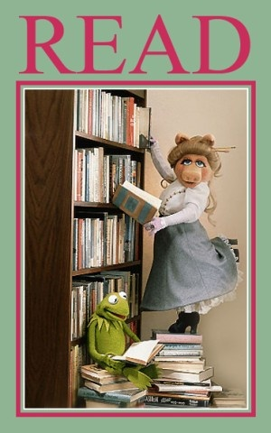 "American Library Association ""READ"" poster featuring Miss Piggy and Kermit, love Kermie!!!!"