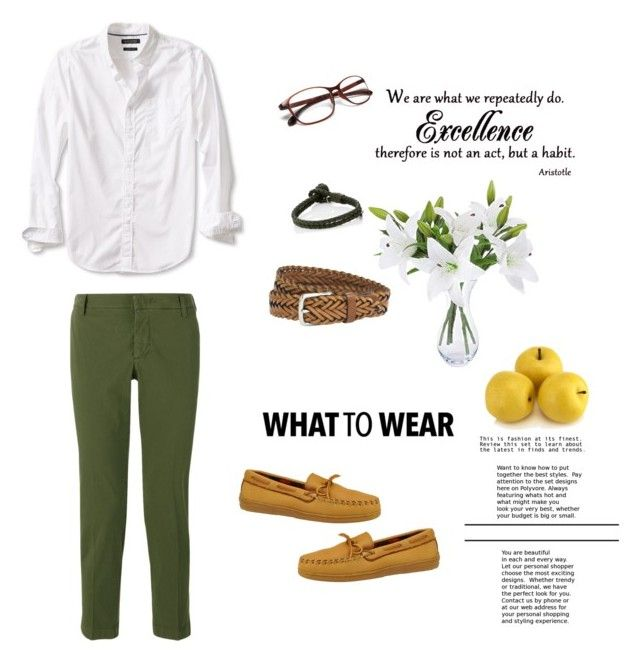 """Olive style 🌿(Villanueva)"" by guruolivella on Polyvore featuring Banana Republic, Entre Amis, Minnetonka, The British Belt Company, Bottega Veneta, men's fashion y menswear"