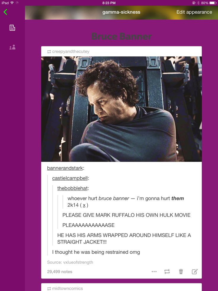 Hulk bruce banner tumblr post. Thanks satan