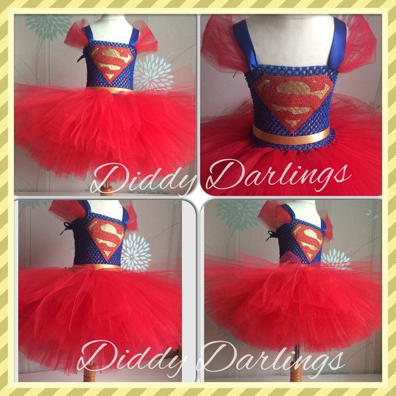 Hey, I found this really awesome Etsy listing at https://www.etsy.com/listing/218861088/superman-tutu-dress-supergirl-tutu-dress