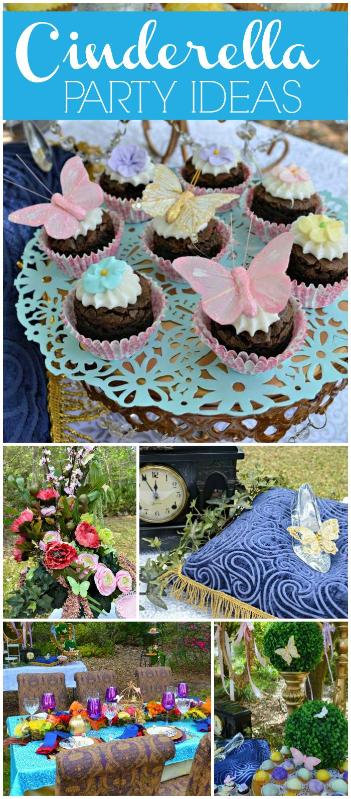 You have to see this Cinderella party! Beautiful butterfly accents! See more party planning ideas at CatchMyParty.com!