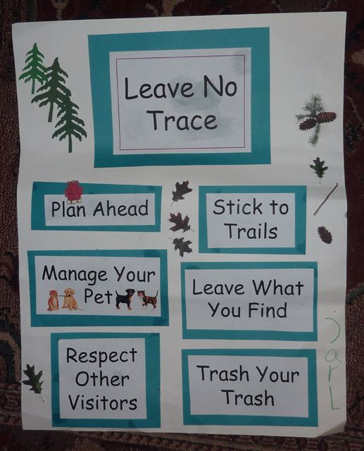leave no trace poster cub scouts | Writing about the Citizenship poster made me think about the first cub ...