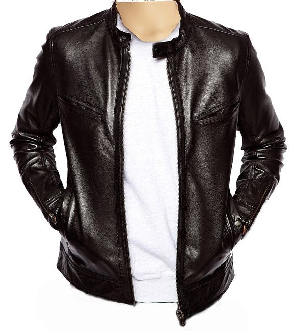NEW Handmade with incredibly soft sheep leather (Choose from 30 different colors) Classic moto style leather jacket Plain and simple design. On SALE for $145 usd