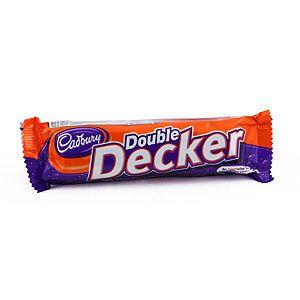 Cadbury's Double Decker  Maitosuklaapatukka  Sisältää: Maito, Kananmuna, Viljat, Soija Saattaa sisältää: Maapähkinät, Pähinät