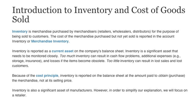 Introduction to Inventory and Cost of Goods Sold