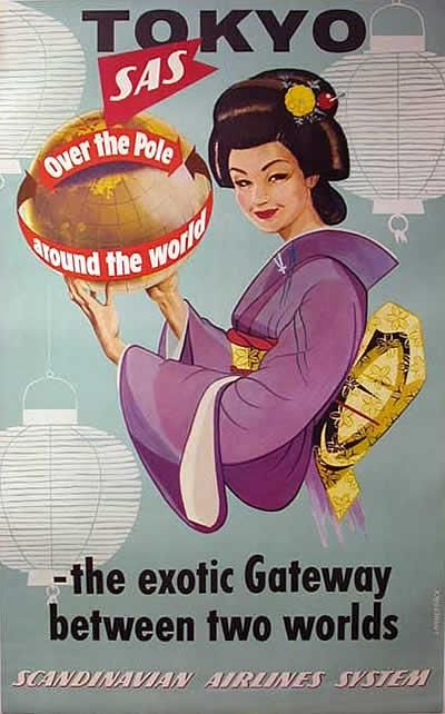 Chapter 2.  Marketing campaign for SAS flight to Tokyo.  From the 1960s.
