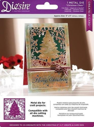 Diesire 5  x 5  Create a Card -  Christmas Cheer  Die