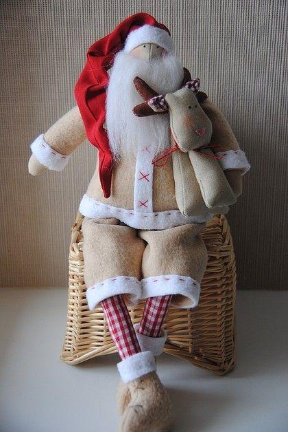 santa felt and fabric