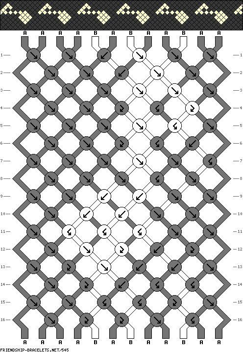 12 strings, 16 rows, 2 colors, bracelet