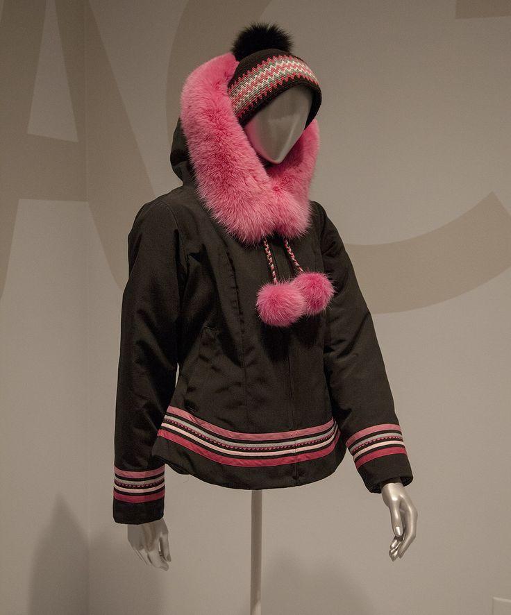 Winifred Nungak, Inuit Born 1987, works in Kangirsuk, Nunavik, Quebec Parka and nasaq (hat), 2015 Parka: Commander fabric, Hollofil, and fox fur Nasaq: wool and fox fur