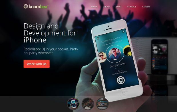 Koombea - Coding apps and taking names - Webdesign inspiration www.niceoneilike.com #design #koombea #webdeveloper #UX #UI