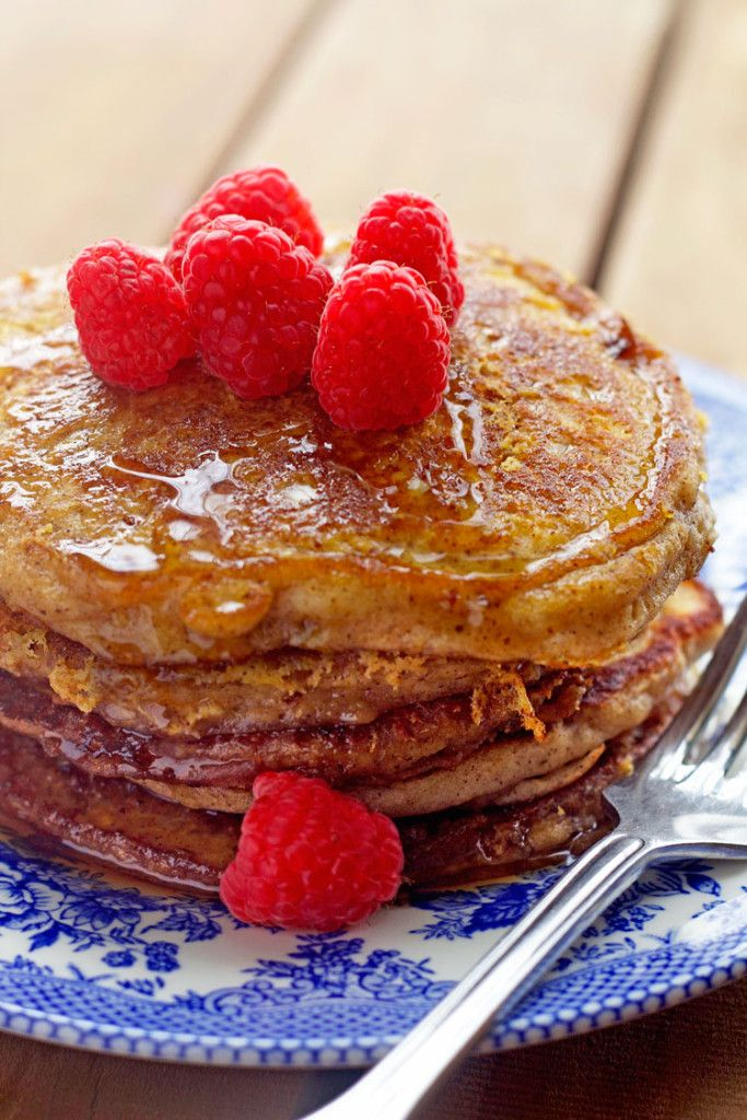 It took me a minute to wrap my head around this recipe.  This is a really genius concept.  After making traditional pancakes - you then dip them in French toast egg batter and Wahl-la!!!