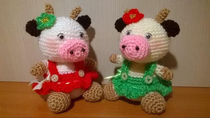 Tutorial Vaca Amigurumi Cow : Oltre 1000 idee su Tutorial Artigianali su Pinterest ...