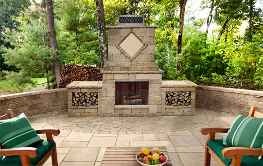 A Techo Bloc Outdoor Fireplace Is A Great Addition To Any Outdoor Living  Space. Landscape Plus