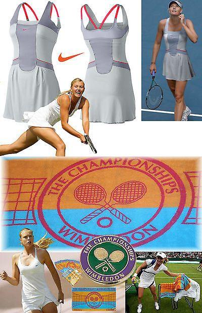 Pants 179018: Nike Maria Sharapova Ace Day Tennis Dress Running Dance Grey S + Wimbledon Towel -> BUY IT NOW ONLY: $97.29 on eBay!