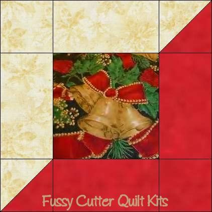 Easy Christmas Quilt Block Pattern   ... Ornament Fabric Easy Pre-Cut Quilt Block Kit Fussy Cutter Quilt Kits