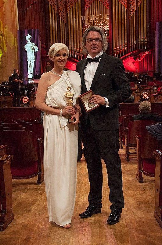 Władze Uczelni podczas rozdania nagród w Filharmonii Narodowej. #Gala #Filharmonia #kostium