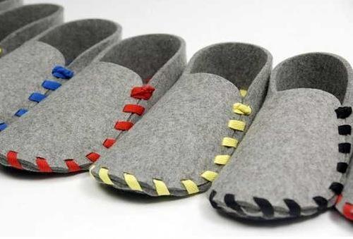 Тапочки туфли из войлока
