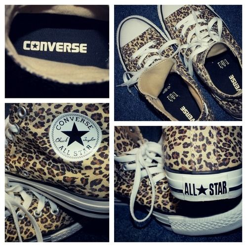 Leopard print converse! Casual and stylish!