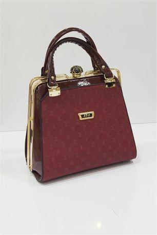 Clipsli Çanta - Bordo - SDS çanta modelleri, sırt çantası, yılan derisi, tutmalı çanta, çanta markaala.com.tr #moda #fashion #diy #tesettür #çanta