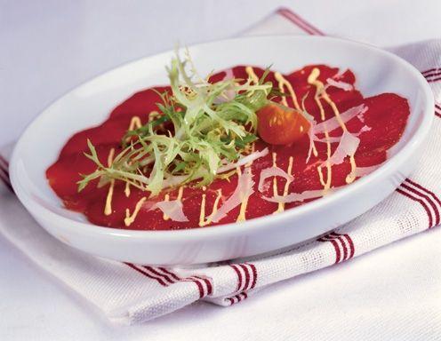 Carpaccio vom Rind mit Senfsauce - Rezept - ichkoche.at