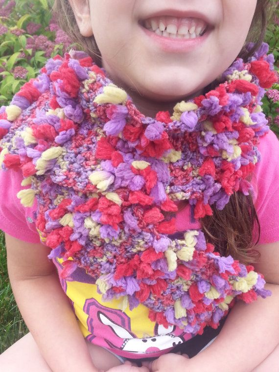 furry stripe scarf by MomySoso on Etsy, $15.00