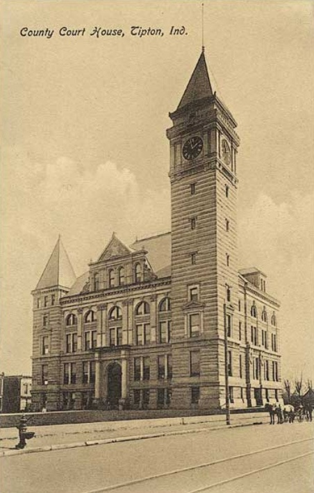 Tipton County Courthouse In Tipton, IN. As You Can See, The Clock Face