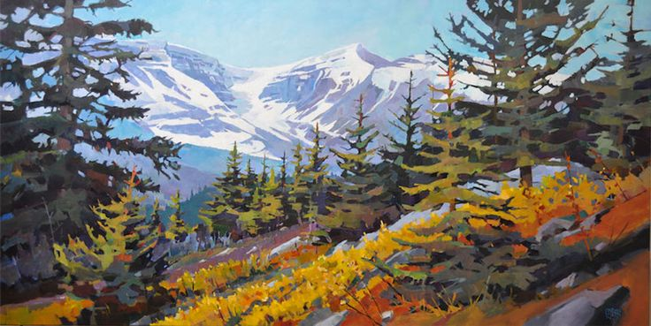 "'Leaving the Tree Line' 30"" x 60"" Acrylic on Canvas by Randy Hayashi"