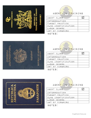 Passport Registration Booklets Get stamps at each station;stamp them for answering questions, instead of stickers.
