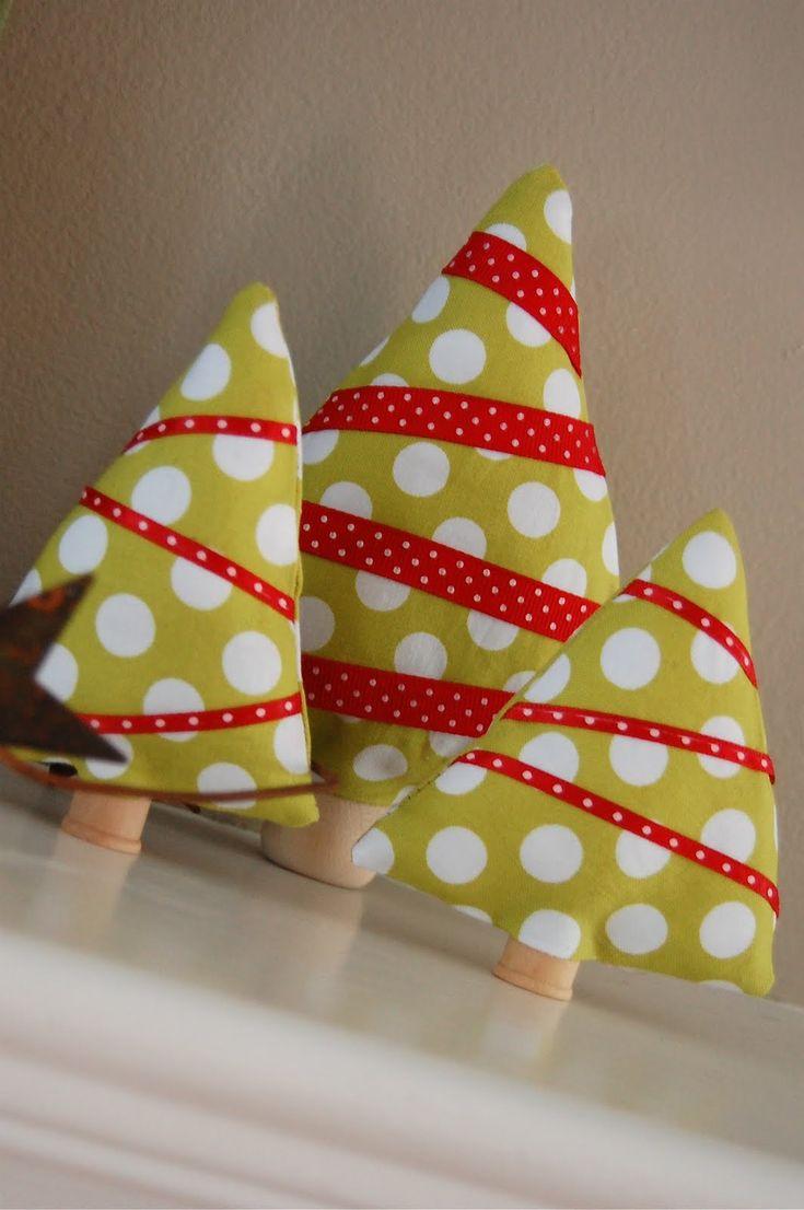 DIY : Les petits sapins de tissu