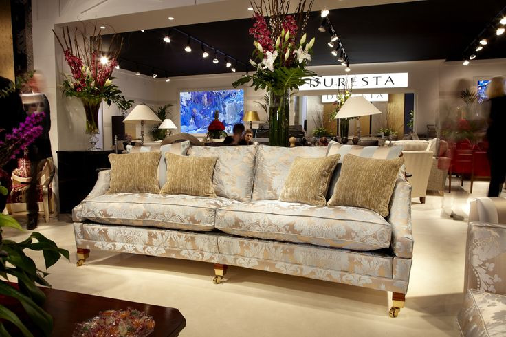 Duresta at Interiors show 2014 - NEC. Hornblower 3 seater sofa